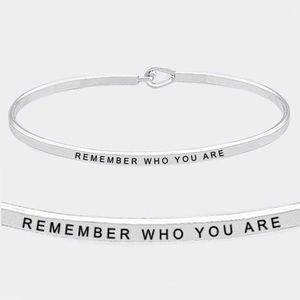 Remember Who You Are Silver Hook Dainty Bracelet